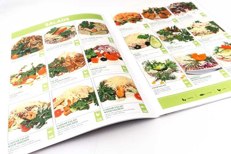 Оформление меню для ресторана