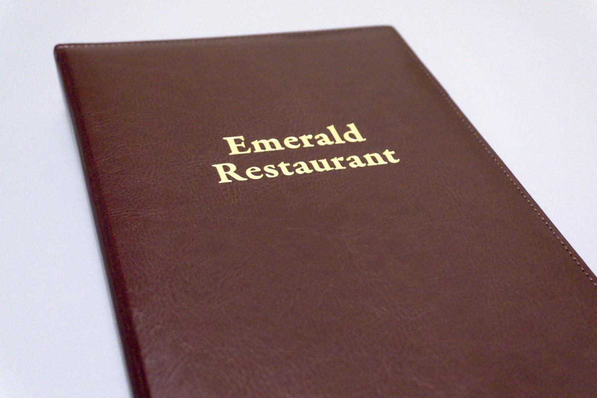 Папки меню для ресторана Emerald
