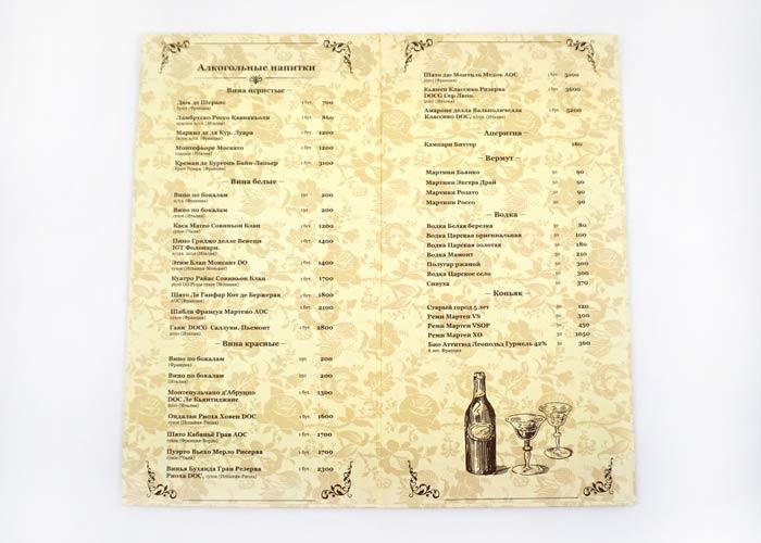 Дизайн и изготовление карты вин для ресторана