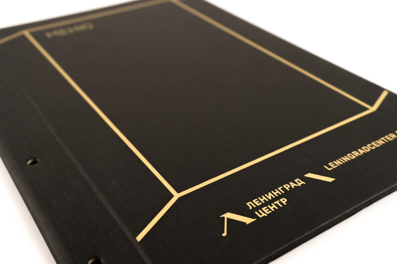 Картонные папки меню с шелкографией