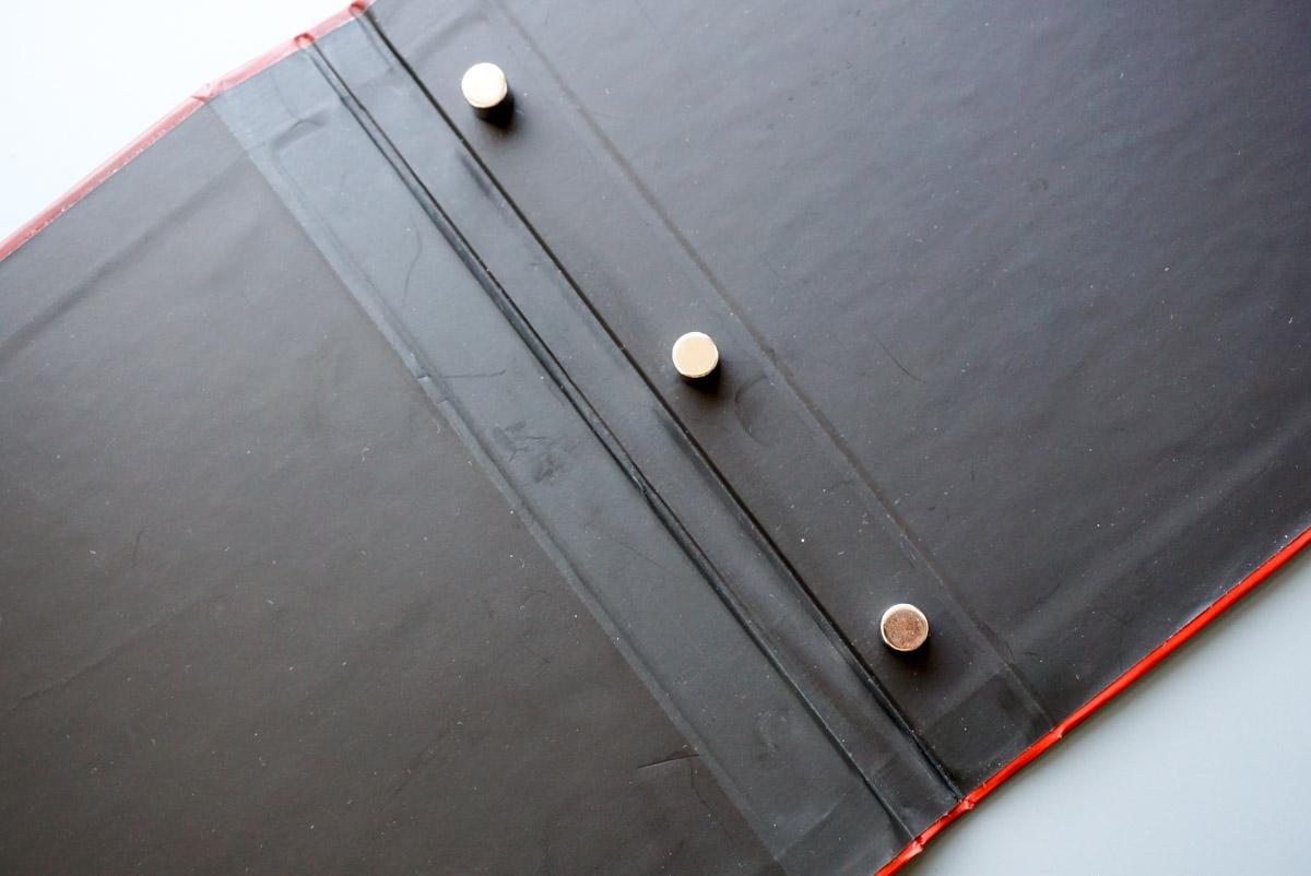 Магниты в папках меню