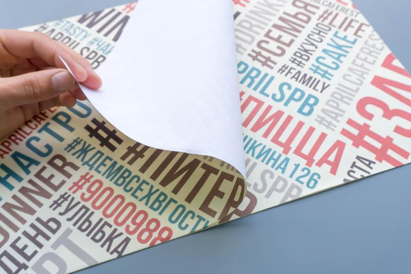 Дизайн и печать одноразовых плейсмет для ресторана Апрелькафе