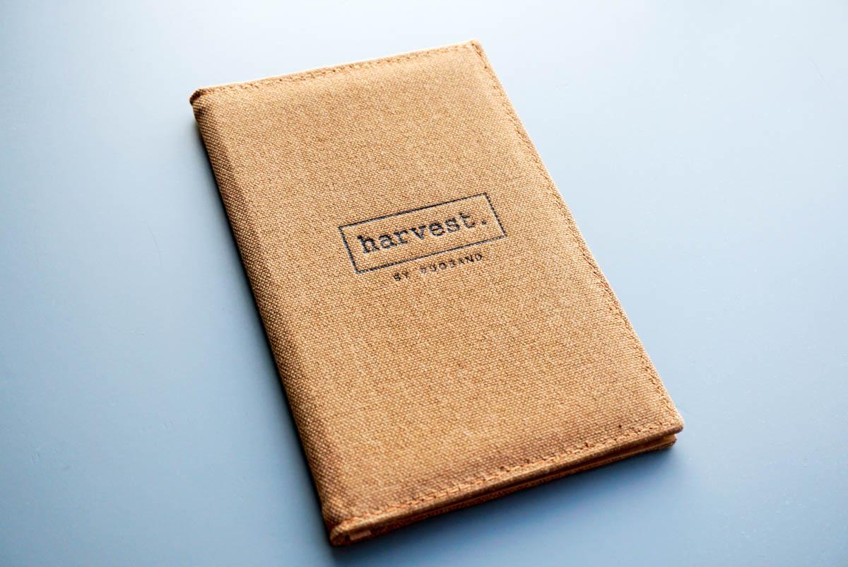Папки меню ресторана Harvest