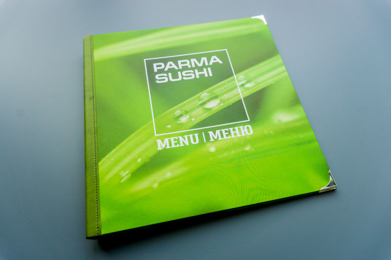 Изготовление папок меню для ресторана ПармаСуши