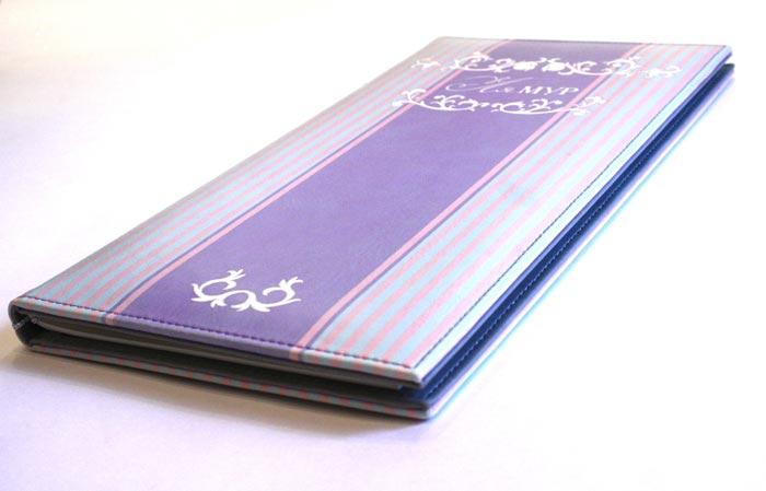 Изготовление полноцветных папок из кожзаменителя для меню