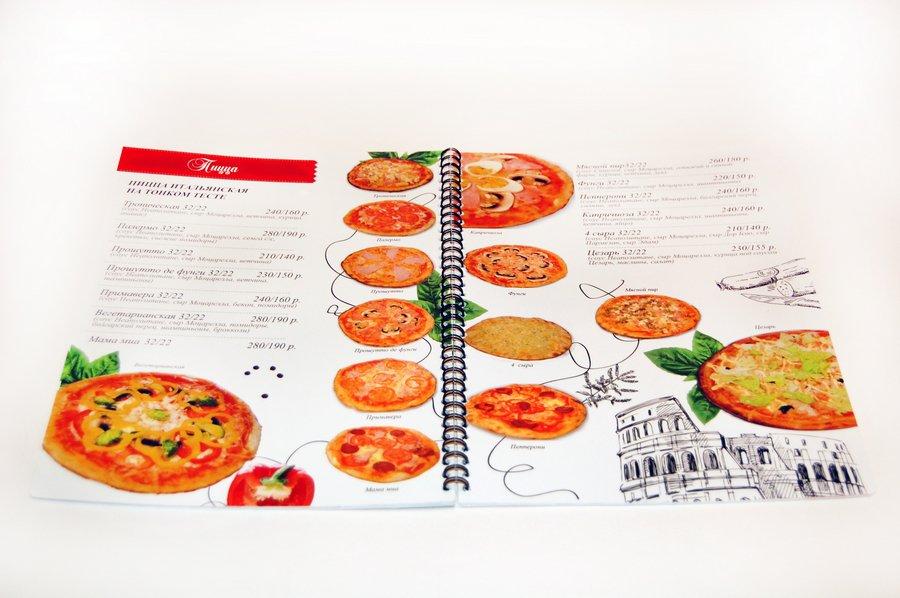 Дизайн и изготовление меню для кафе
